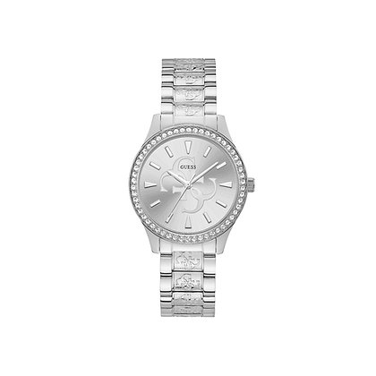 GUESS ANNA WOMEN'S WATCH Silver Dial With G Pattern