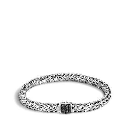 JOHN HARDY Classic Chain Bracelet with Black Sapphire M 6.5mm
