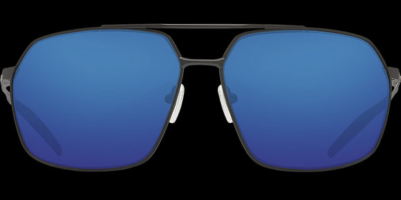 COSTA DEL MAR PILOTHOUSE Matte Black/Blue Mirror SUNGLASSES