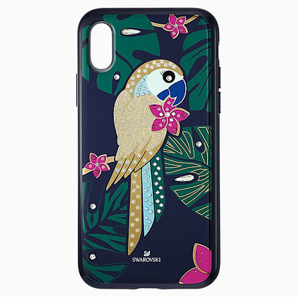 SWAROVSKI Tropical Parrot Smartphone Case with Bumper, iPhone XS Max