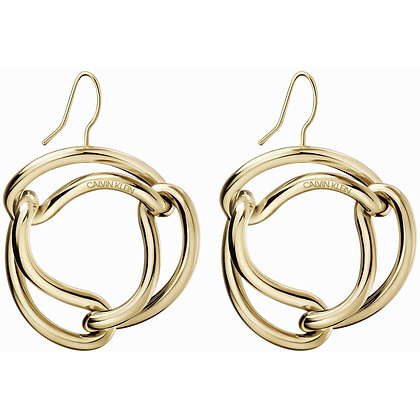 CALVIN KLEIN Unified Stainless Steel Gold Earrings