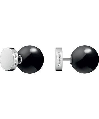 CALVIN KLEIN Bubbly Stainless Steel/ Black Earrings