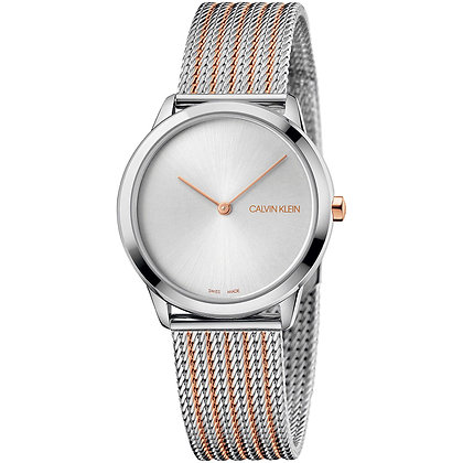 CALVIN KLEIN Watch Only Time Minimal Stainless steel/ rose