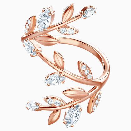 SWAROVSKI Mayfly Ring, White, Rose-gold tone plated Size 6 and 9