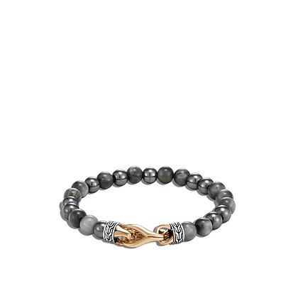 JOHN HARDY Asli Classic Chain Link Bead/ Bronze Bracelet with Eagle Eye