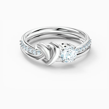 SWAROVSKI  Lifelong Heart Ring, White, Rhodium plated size 9