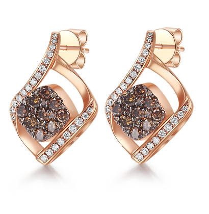 BELLANITA 14K Rose Gold Flip Earrings