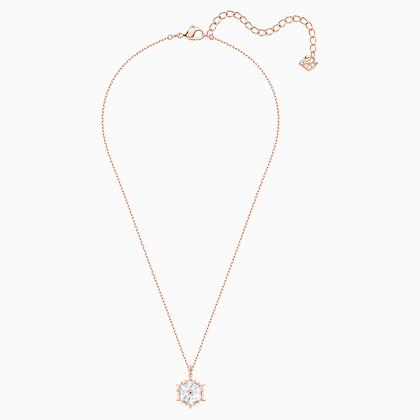 SWAROVSKI Magic Pendant, White, Rose-gold tone plated