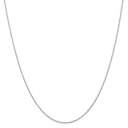 QG 14K White Gold 1.2mm DIAMOND -CUT BEADED PENDANT CHAIN