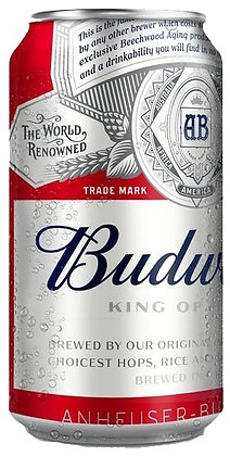 Budweiser 355ml Cans in a 6 Pack