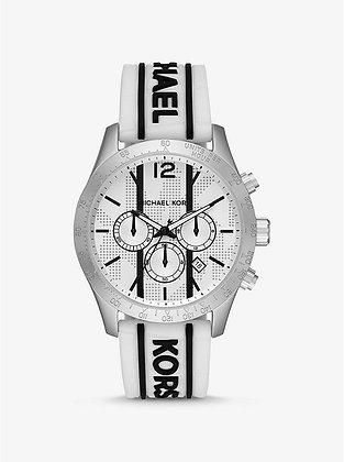 MICHAEL KORS  Layton White Silicone Croco Watch