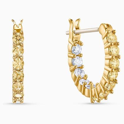 SWAROVSKI  Vittore Hoop Pierced Earrings, Gold tone, Gold-tone plated