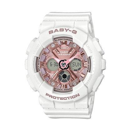CASIO BABY-G WHITE ANALOG/DIGITAL