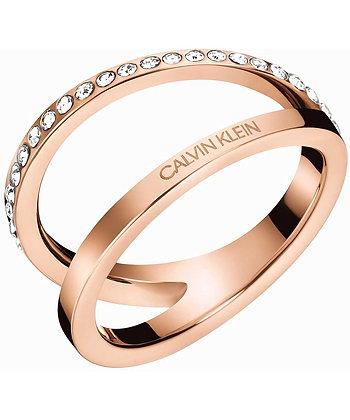 CALVIN KLEIN Outline Stainless Steel Rose Gold Ring