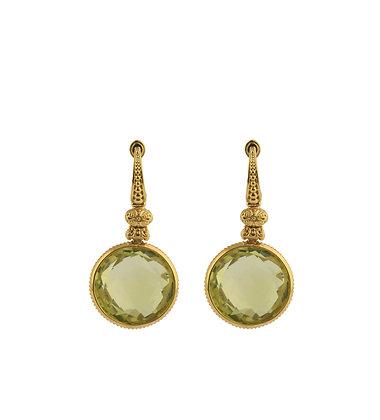 Konstantino Lemon Topaz Earrings 18kt Yellow Gold