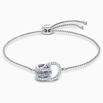 SWAROVSKI  Further Bracelet, Blue, Rhodium plated