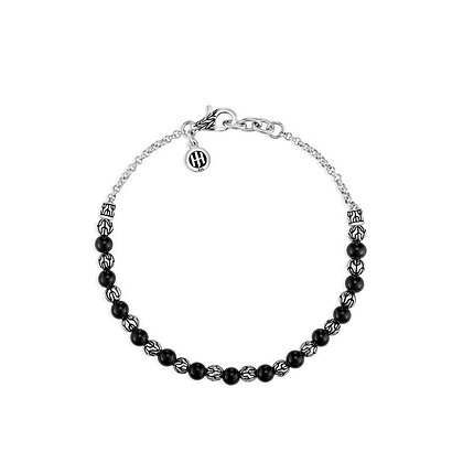 JOHN HARDY Classic Chain 4mm Black Onyx Bead Bracelet M 2mm