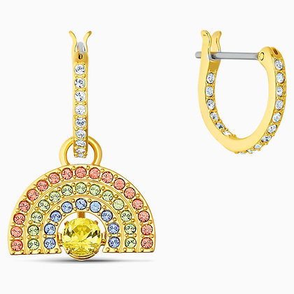 SWAROVSKI  Sparkling Dance Rainbow Earrings, Light multi-coloured Gold-tone