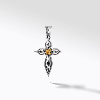 Konstantino Galactic  Bloom  Cross Pendant