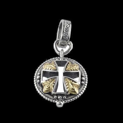 Konstantino Small Round Open Cross Pendant
