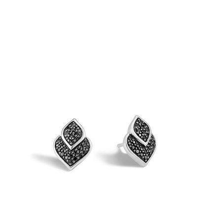 JOHN HARDY Naga Stud Earring with Black Sapphire and Black Spinel