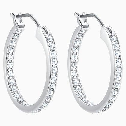 SWAROVSKI Sommerset Earrings, White, Rhodium plated