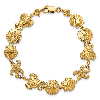 QG 14k Yellow Gold Sea like Bracelet