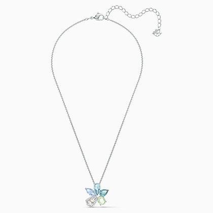 SWAROVSKI  Sunny Necklace, Light multi-coloured, Rhodium plated