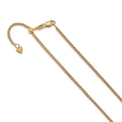 QG 14k Yellow Gold Leslies Semi Solid Chain