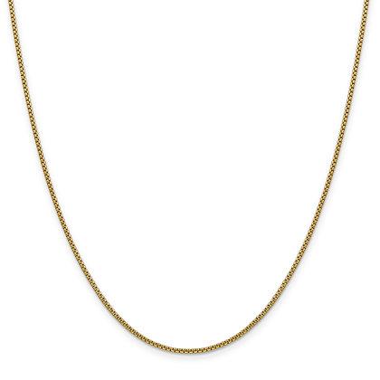 QG 14k Yellow Gold Hollow 1.5mm Round Box Chain