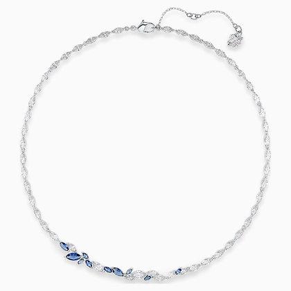 SWAROVSKI  Louison Necklace, Blue, Rhodium plated