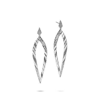 JOHN HARDY Marquis Drop Earring with Diamonds