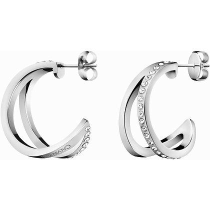 CALVIN KLEIN Outline Stainless steel Earrings