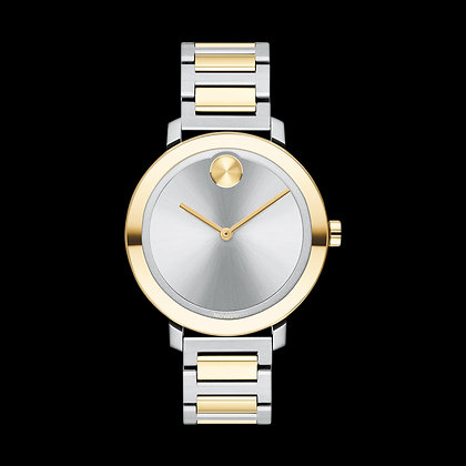 MOVADO BOLD EVOLUTION 2 tone Yellow Gold and Silver