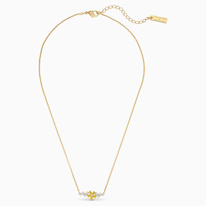 SWAROVSKI  NEW Atelier Botanical Necklace, Yellow, Gold-tone plated