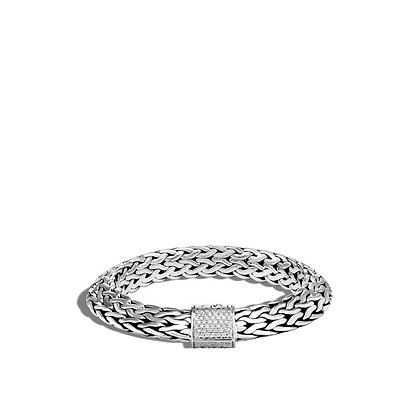 JOHN HARDY Tiga Chain Bracelet with Diamonds M 11mm