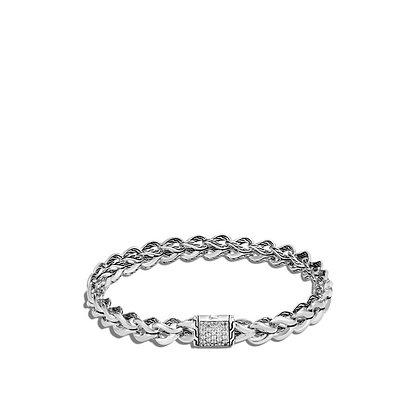 JOHN HARDY Asli Classic Chain Link Bracelet with Diamonds M 7mm