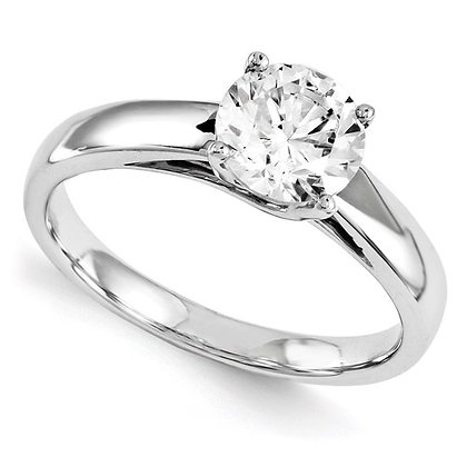 QG 14K White Gold 4 prong engagement mount (stone not included)