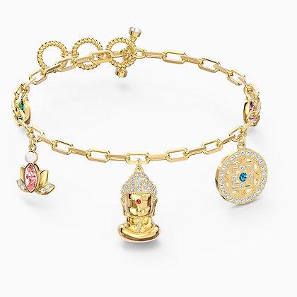 SWAROVSKI  Symbolic Buddha Bracelet, Light multi-coloured, Gold-tone plated
