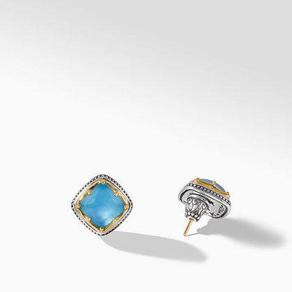 Konstantino Aurora  Aquamarine Box Earrings