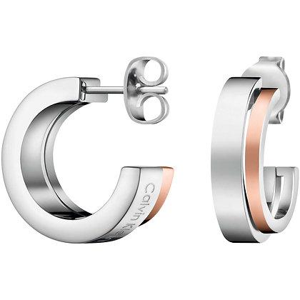 CALVIN KLEIN Unite stainless steel/ rose gold Earrings