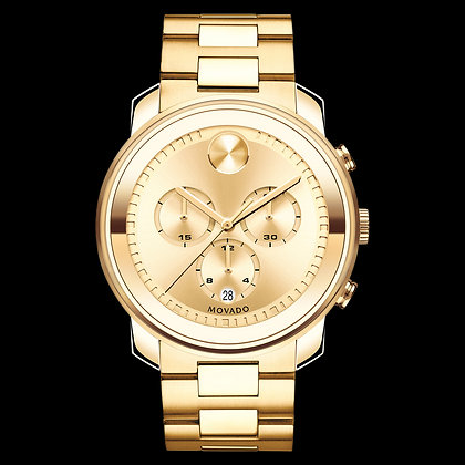 MOVADO BOLD METALS Yellow Gold Tone Dial with Matching Subdials