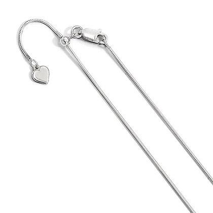 "QG Sterling Silver 22"" Chain"