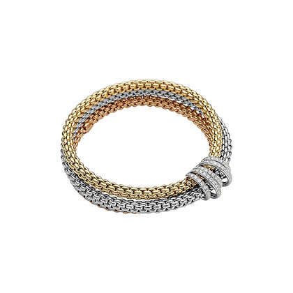 FOPE Solo Mialuce Flex'it bracelet with diamond PAVE