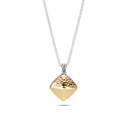 JOHN HARDY Classic Chain Hammered Sugarloaf Pendant Necklace 18k Yellow Gold