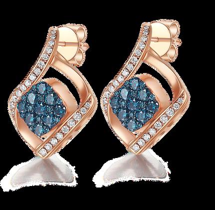 BELLANITA 14K White Gold Flip Earrings
