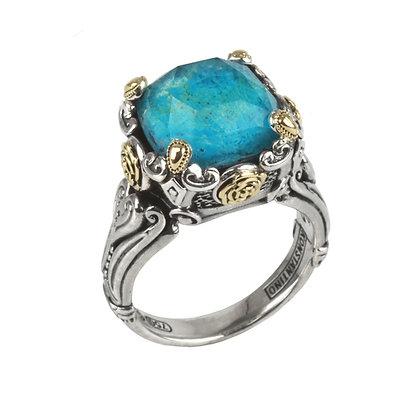 Konstantino Chrysocolla Doublet Ring
