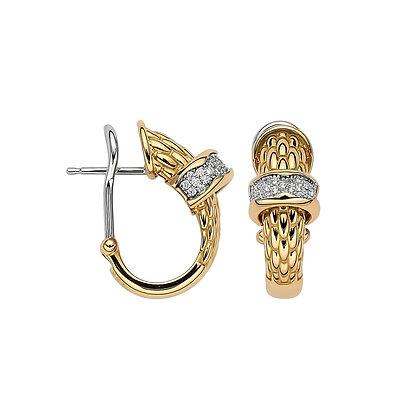 FOPE Love Nest diamond PAVE earrings