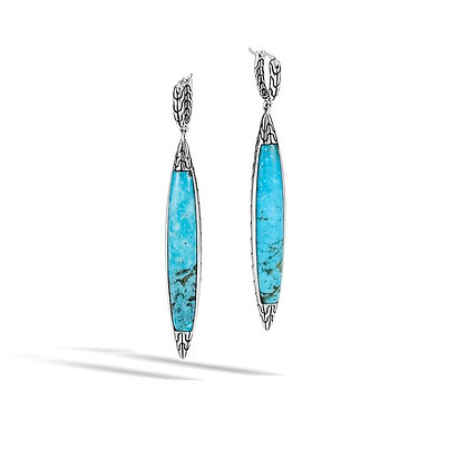 JOHN HARDY Classic Chain Spear Drop Earring with Turquoise
