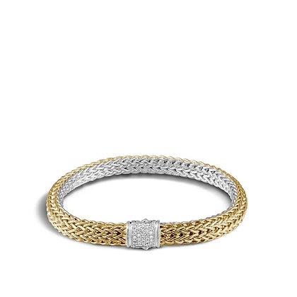 JOHN HARDY Classic Chain Reversible Bracelet with Diamonds M 6.5mm
